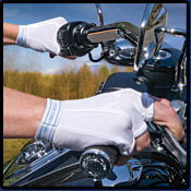 On your motorcycle!